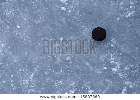 Ice Rink Surface With A Puck