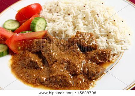 Beef Korma And Rice Horizontal