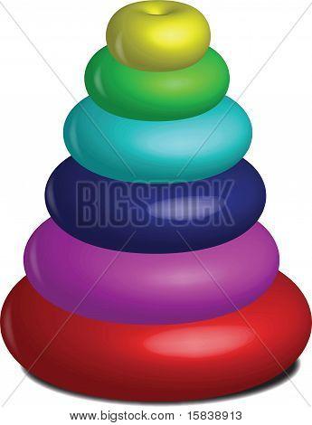 Baby Doughnut Pyramid Toy