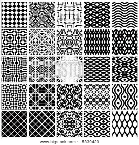Set of geometric seamless patterns.