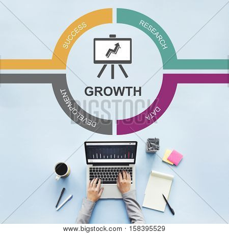 Analytics Growth Investment Marketing Progress Concept