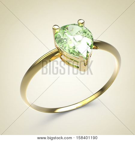 Wedding ring with diamonds.. Fashion jewelry. 3d digitally rendered illustration