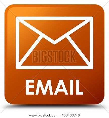 Email (envelop icon) on brown square button