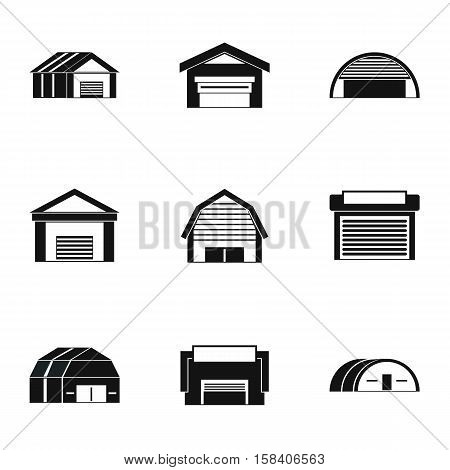 Storage icons set. Simple illustration of 9 storage vector icons for web
