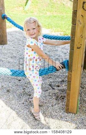 little girl at playground