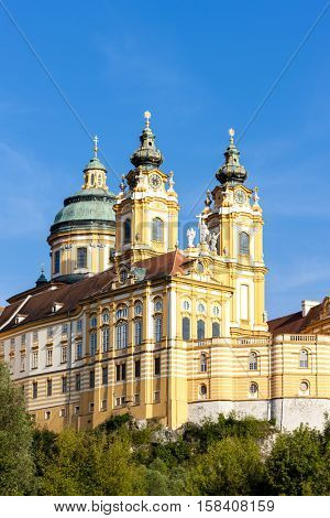 benedictine monastery in Melk, Lower Austria, Austria