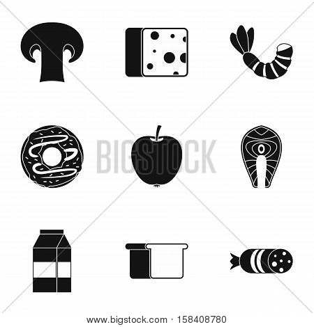 Breakfast icons set. Simple illustration of 9 breakfast vector icons for web