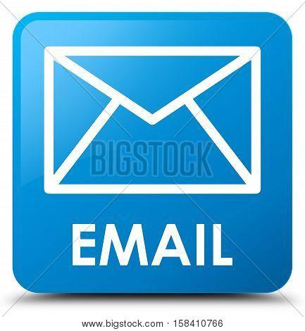Email (envelop icon) cyan blue square button