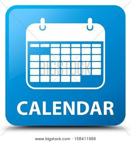 Calendar (appointment icon) cyan blue square button