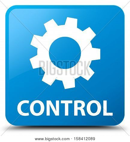 Control (settings icon) cyan blue square button