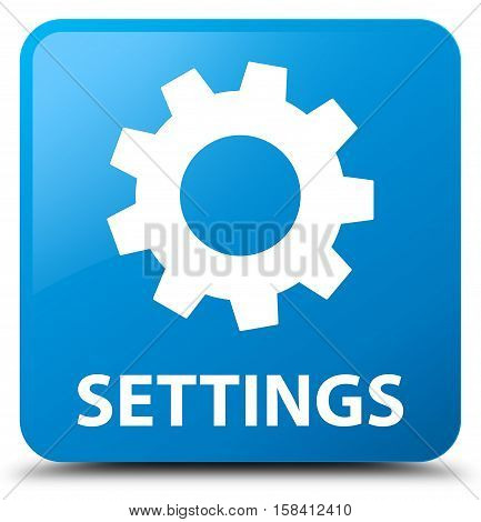 Settings (gear icon) cyan blue square button