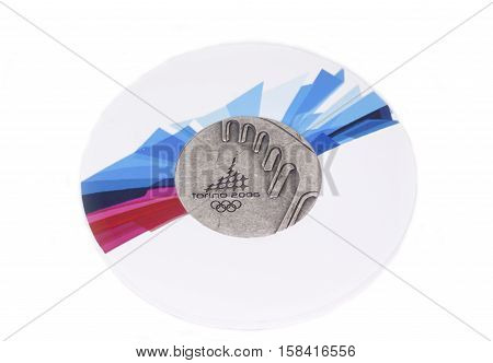 Torino 2006 Olympic Games Participation Medal, Obverse. Kouvola, Finland 06.09.2016.