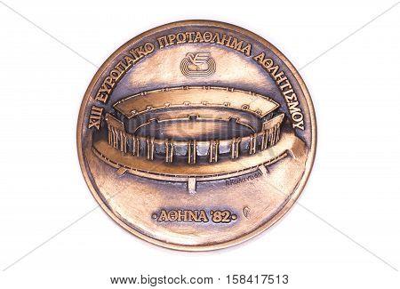 Athens 1982 Athletics European Championships Participation Medal, Obverse. Kouvola, Finland 06.09.20