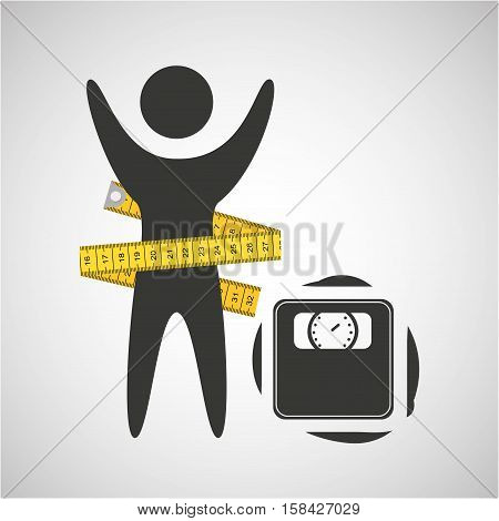 lose weight concept weight scale icon vector illustration eps 10