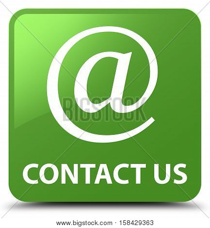 Contact Us (email Address Icon) Soft Green Square Button