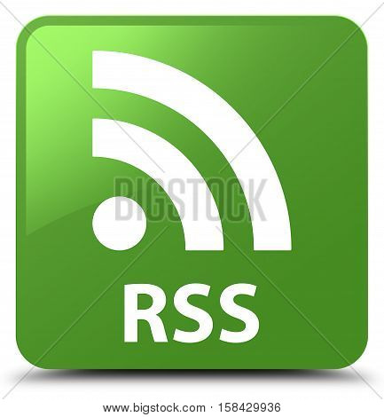 RSS (newsfeed icon) soft green square button