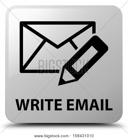 Write email (email and pencil icon) white square button