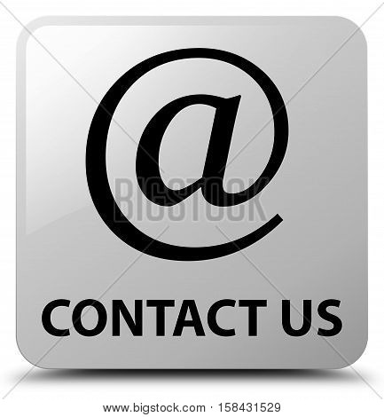 Contact Us (email Address Icon) White Square Button