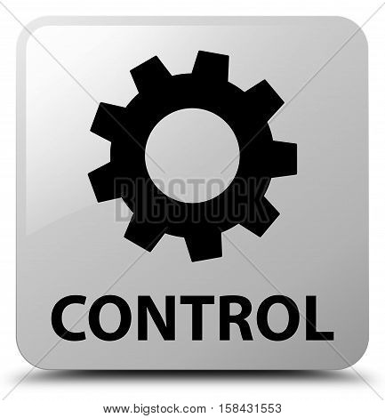 Control (settings icon) on white square button