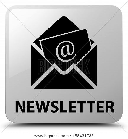 Newsletter (address icon) on white square button