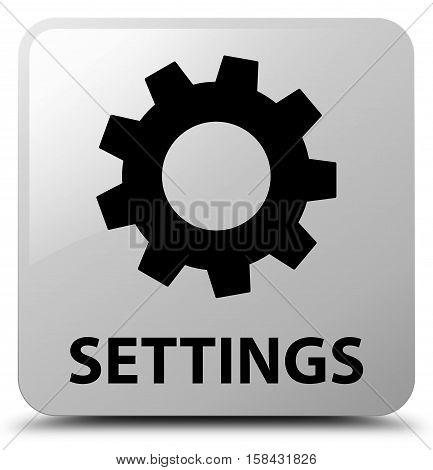 Settings (gears icon) on white square button