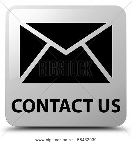 Contact Us (email Icon) White Square Button