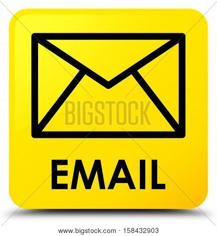 Email (envelop icon) on yellow square button