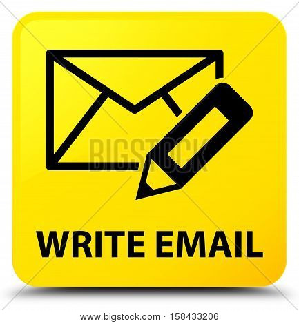 Write email (edit pencil icon) yellow square button