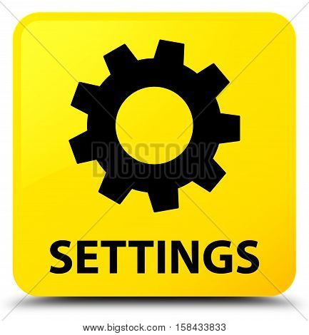 Settings (gears icon) on yellow square button