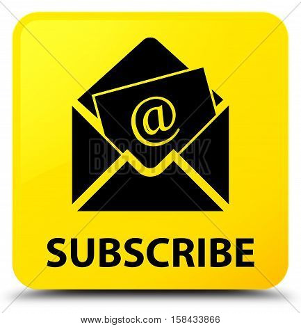 Subscribe (newsletter Email Icon) Yellow Square Button
