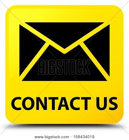 Contact Us (email Icon) Yellow Square Button