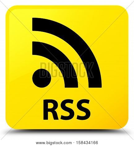 RSS (news feed icon) yellow square button