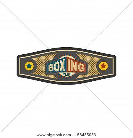 Boxing Championship Belt. Award For Boxer. Sport Victory