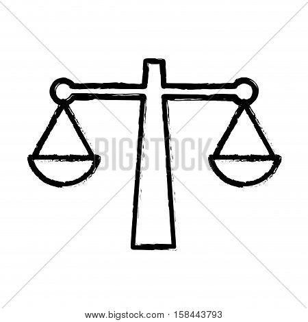 Justive balance law icon vector illustration graphic design