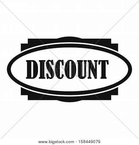 Discount oval label icon. Simple illustration of discount oval label vector icon for web