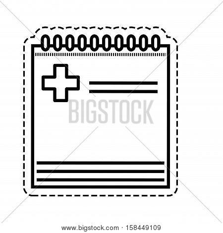 medical report history icon vector illustration graphic design