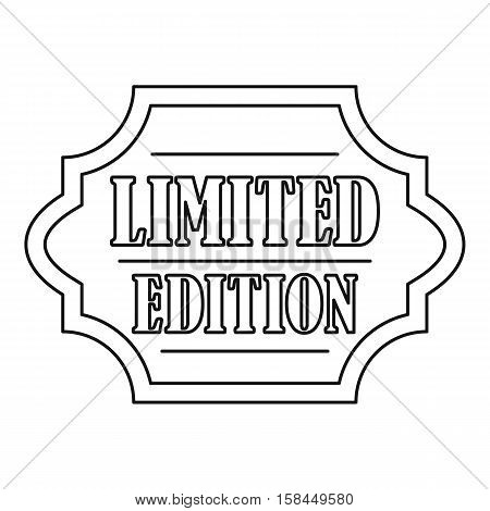 Limited edition label icon. Outline illustration of limited edition label vector icon for web