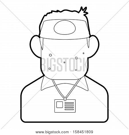 Salesman icon. Outline illustration of salesman vector icon for web design