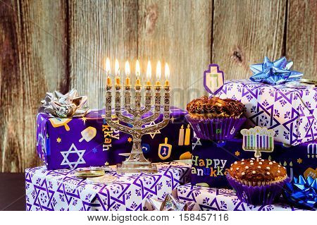 Jewish Holiday Cupcakes Composed Of Elements The Hanukkah