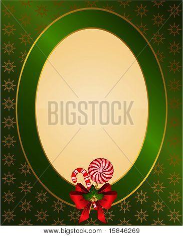 Weihnachten Hintergrund mit einem Bogen und einem Platz für text