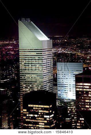 Citicorp Building Skyscraper New York City Night