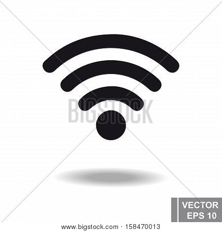 Icon Wi Fi. Black Isolated On A White Background. Communication.