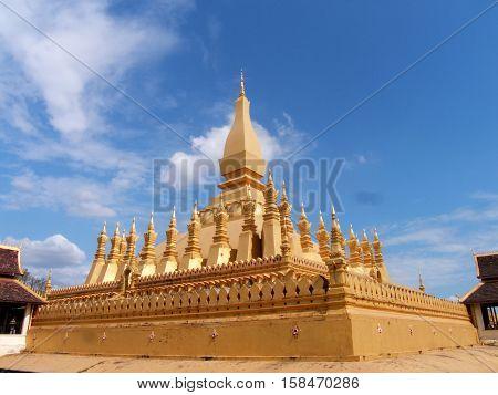 Wat Phra That Luang at Vientiane, Laos.