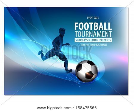 Football party, football championship, football tournament college league.Flyer, Poster Brochure Presentation