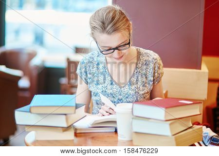 Student Studying Or Preparing For Exams