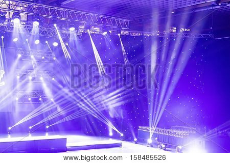 Stage Lights, Light Show At The Concert.. Concert Light Show