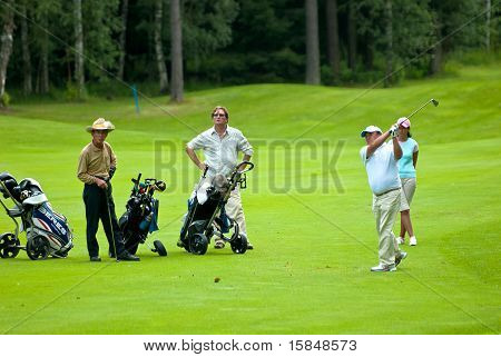 Group golfer, golfer swing