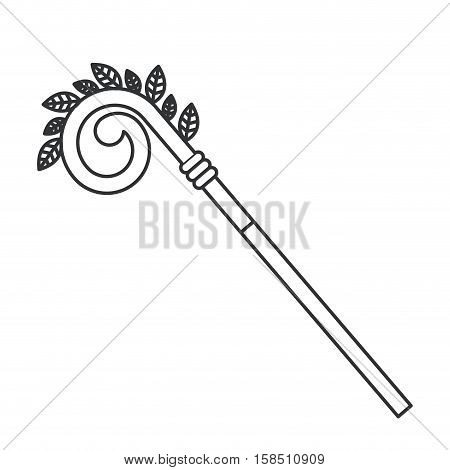 Pope stick icon. Religion god pray faith and believe theme. Isolated design. Vector illustration