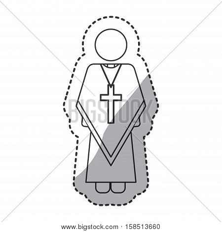 Pope icon. Religion god pray faith and believe theme. Isolated design. Vector illustration