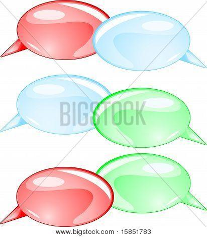 Couple speech bubbles